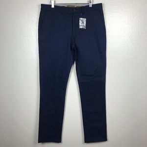 Nifty Genius J.P. Stretch Chino Pants in Navy Blue